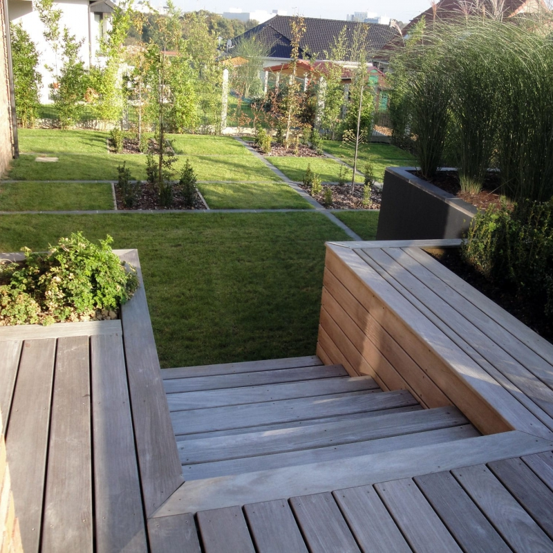Am nagement terrasse ext rieure b thune nord pas de for Agencement terrasse jardin