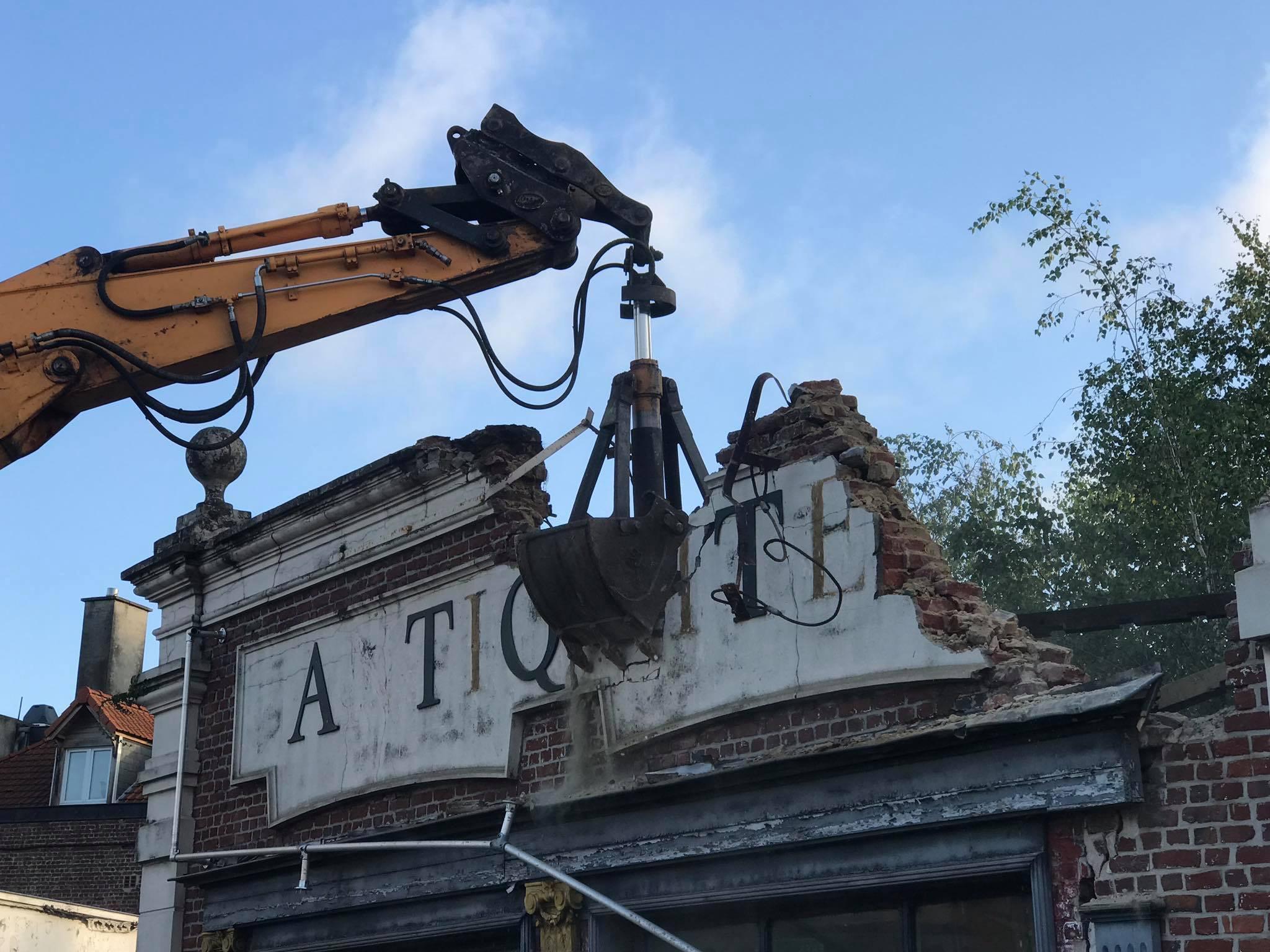 Chantier démolition à Béthune