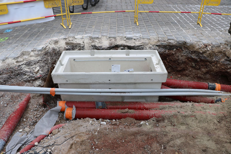 Travaux de réseaux avec installation d'un double poste ENEDIS pour la ville de Béthune